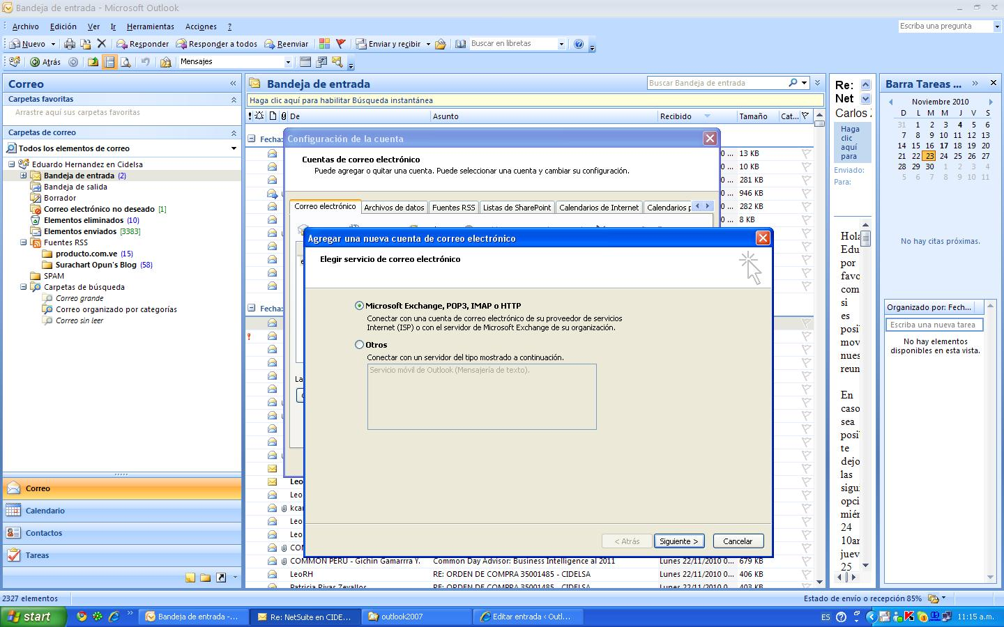 how to use gmail in outlook 2007